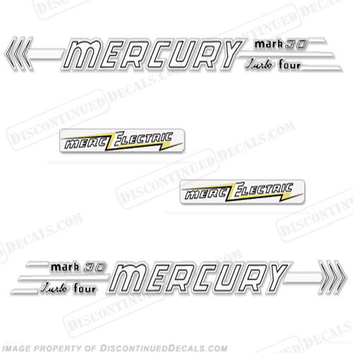 Mercury 1956 30HP Mark 30 Electric Decals