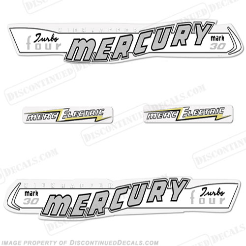 Mercury 1957 30HP Mark 30 Electric Decals