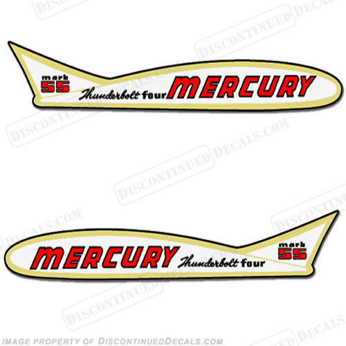 Mercury 1955 55HP Outboard Engine Decals
