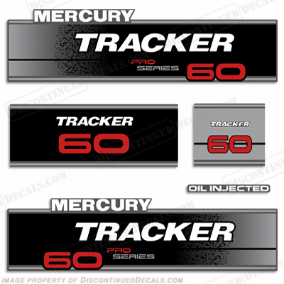 Mercury Tracker 60hp Pro Series Engine Decal kit