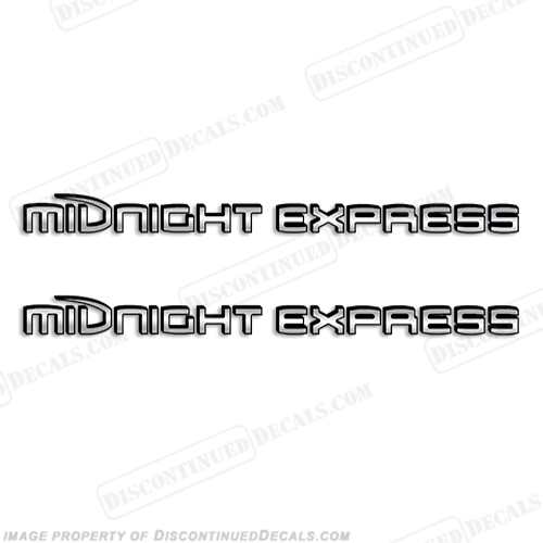 Midnight Express Decals - Chrome