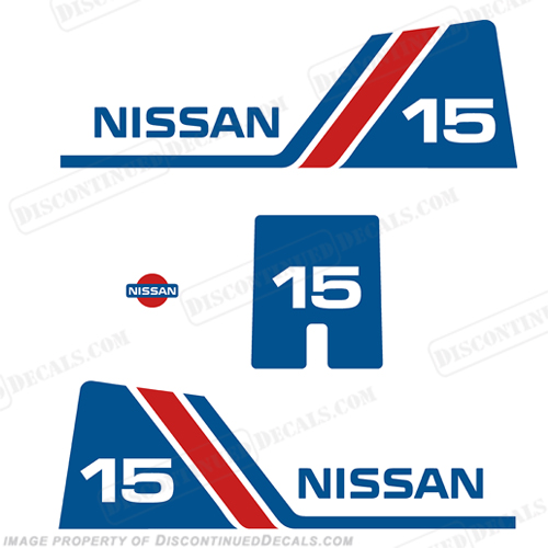 Nissan 15hp Decal Kit - 1984 - 1995