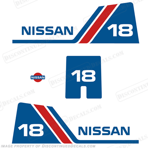 Nissan 18hp Decal Kit - 1984 - 1995