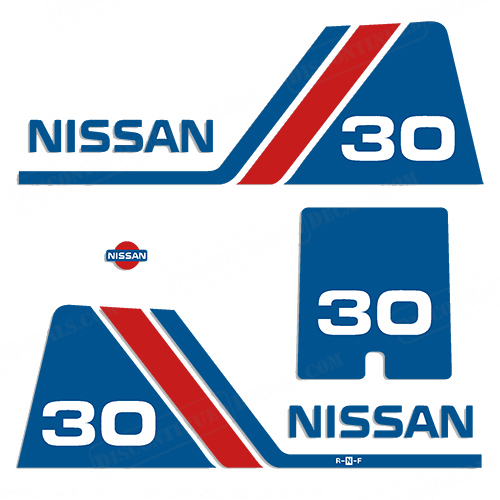 Nissan 30hp Decal Kit - 1984 - 1995