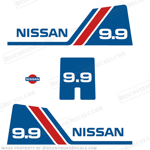 Nissan 9.9hp Decal Kit - 1984 - 1995
