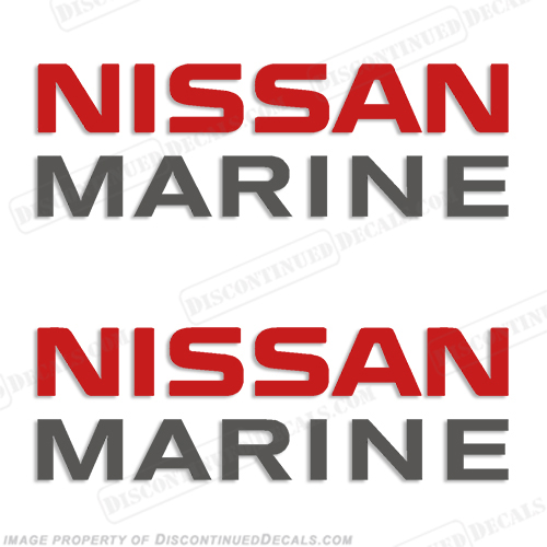 Nissan Marine Decals - Set of 2