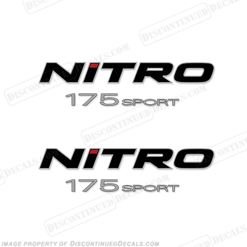 Tracker Marine Nitro 175 Sport Boat Decals (Set of 2)
