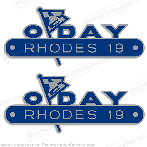 ODay Rhodes 19 Boat Decals (Set of 2)