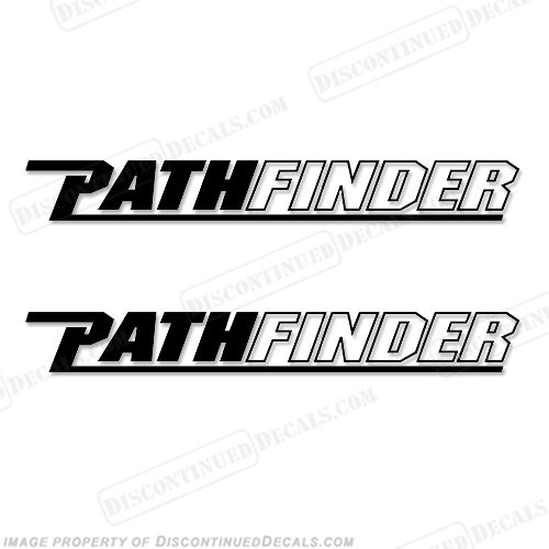 Pathfinder Boat Logo Decals (Set of Two) - Any Color!