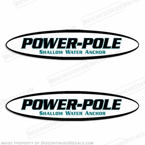 Power-Pole Shallow Water Anchor Decals - Set of 2