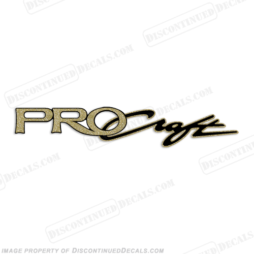 "Tracker Marine Pro Craft Boat Decal 13"" - Gold"