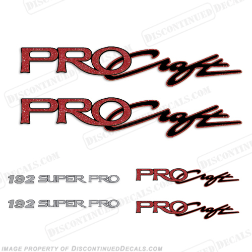 Pro Craft Boats 192 Super Pro Logo Decal Package procraft, pro-craft