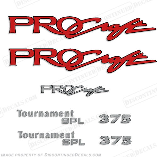 ProCraft Tournament SPL 375 Decal Package procraft, pro-craft