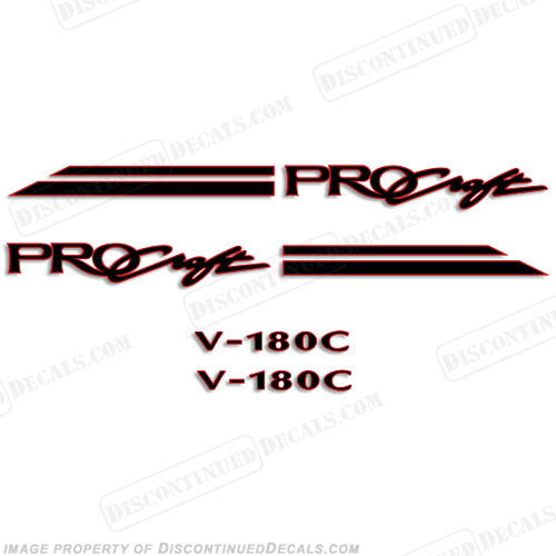 Pro Craft V-180C Decal Package procraft, pro-craft