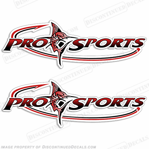 Pro Sports Logo Decal - Red/Black prosport, prosports