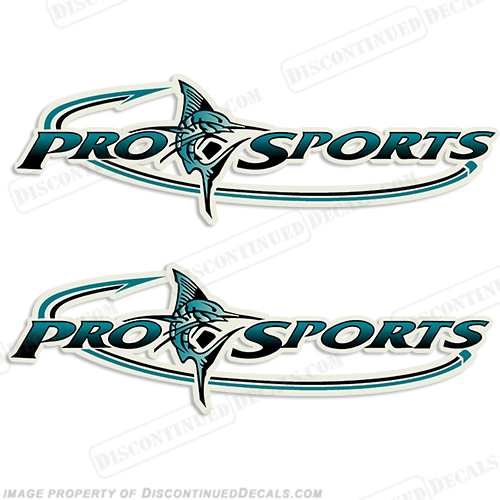 Pro Sports Logo Decal - Teal/Black prosport, prosports