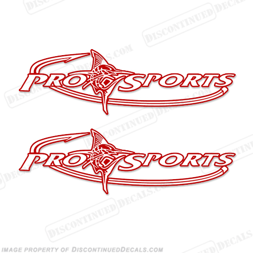 Pro Sports Logo Decals (Set of 2) - Any Color! prosport, prosports