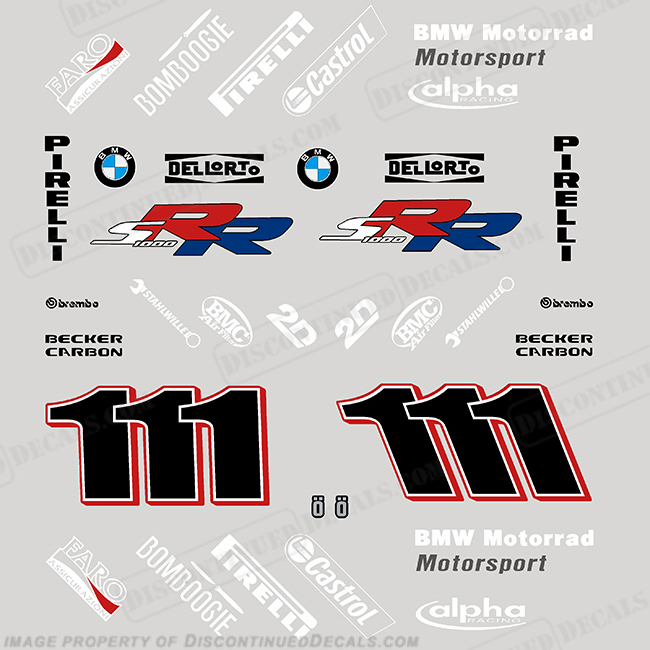 BMW S1000RR Race Replica Decal Kit