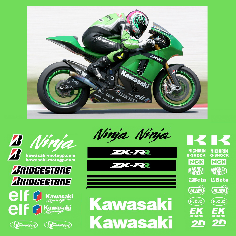 Kawasaki kawasaki motogp race decal kit 2007 r k zx rr 07