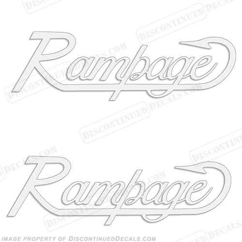 Rampage Boat Decals (Set of 2) - Any Color