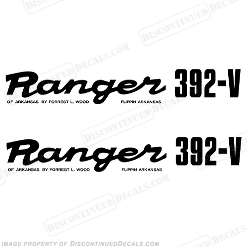 Ranger 392-V Early 1980s Decals (Set of 2) - Any Color!