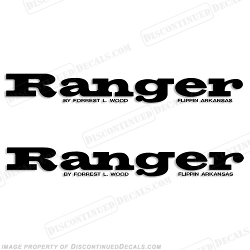 Ranger Boat Logo Decals (Set of 2) - Any Color!
