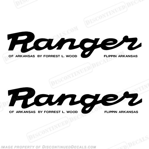 ranger trail script style trailer decals  set of 2