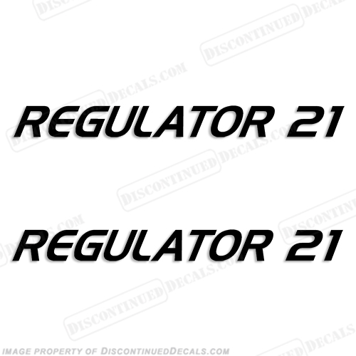 Regulator 21 Boat Logo Decals (Set of 2) - Any Color!