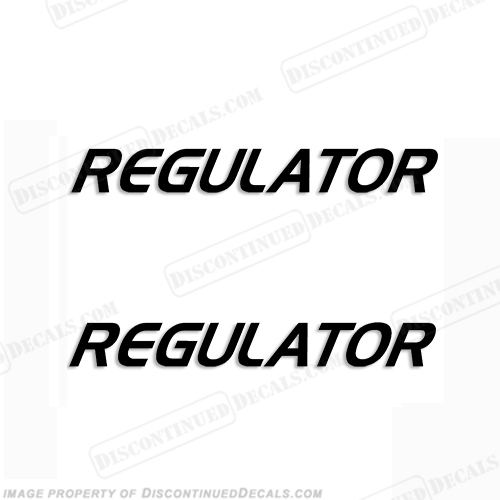 Regulator Boat Logo Decals (Set of 2) - Any Color!