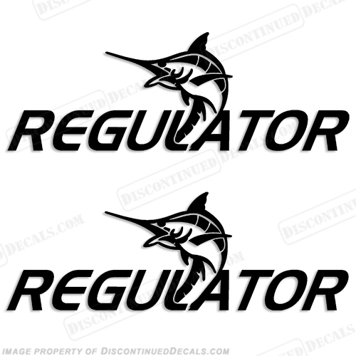 Regulator Boat Logo w/ Fish Decals (Set of 2) - Any Color!