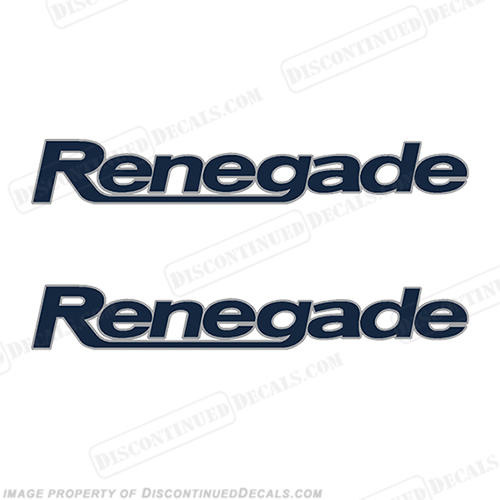 Renegade Boat Decals(Set of 2) - 2 Color!
