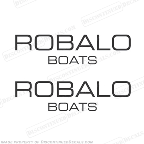 Robalo Boats Logo Decals - Any Color!