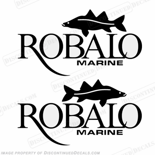 Robalo Boats Logo W Fish Decals