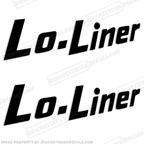 Aristocrat Lo Liner Logo Decals - (Set of 2) Any Color! motorhome, motor, home, lo-liner