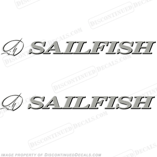 Sailfish Boat Logo Decals