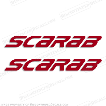 Scarab Wellcraft Boats Logo Decals - 1 Color