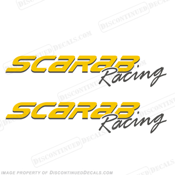 Scarab Racing Boat Logo Decals - 2 Color