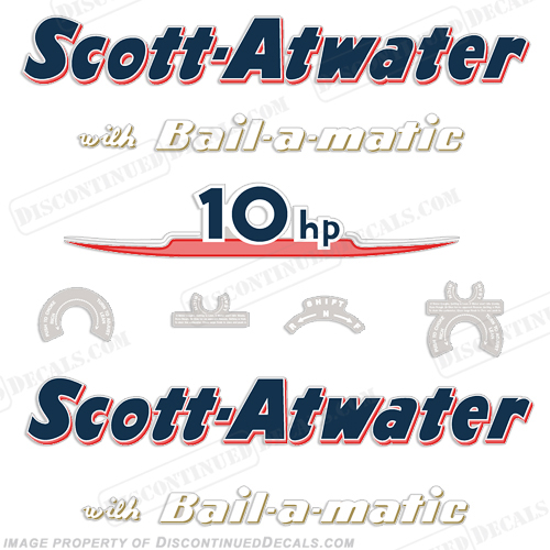 Scott Atwater 10hp Decals - 1955