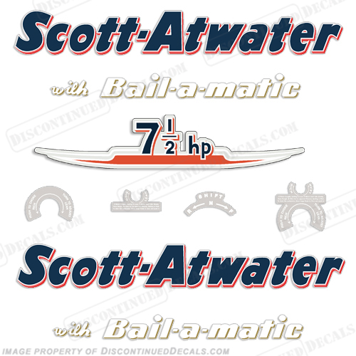 Scott Atwater 7.5hp Decals - 1955