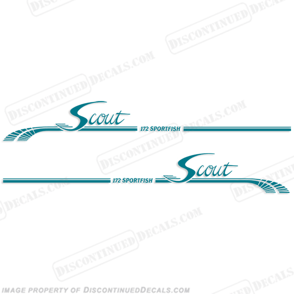 Scout 172 Sportfish Boat Logo Decals - Any Color!