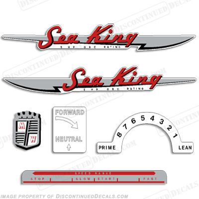Sea King 1950-1953 3-5HP Decals