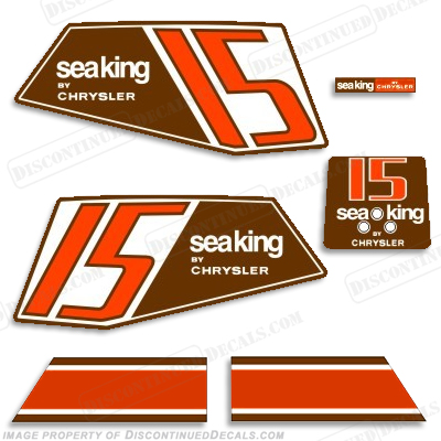 Sea King 1986 15HP Decals