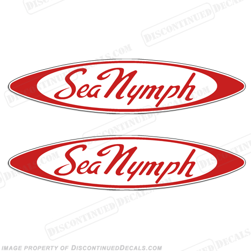 Sea Nymph Boat Decals (Oval) - Any Color!