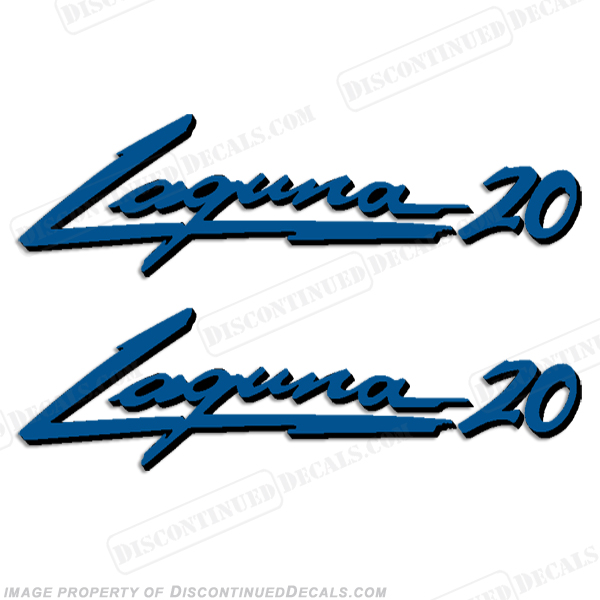 "Sea Ray ""Laguna 20"" Boat Decals - 2 Color!"