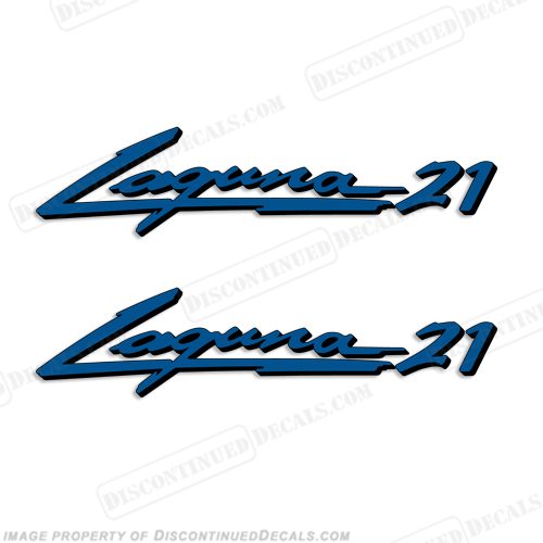 "Sea Ray ""Laguna 21"" Boat Decals - 2 Color!"