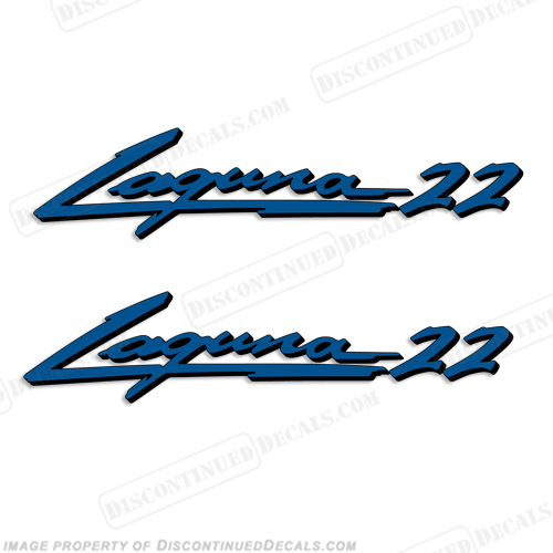 "Sea Ray ""Laguna 22"" Boat Decals - 2 Color!"