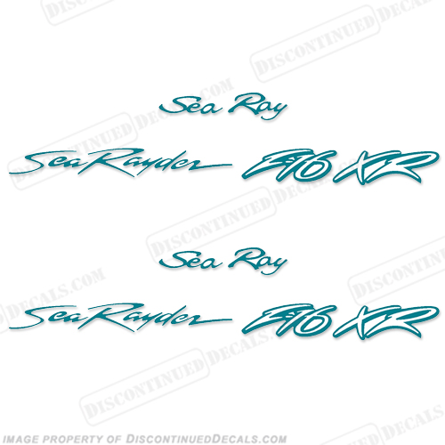 SEA RAY SEA RAYDER F16 BOAT DECALS - SET OF 2 - (ANY COLOR!) searay