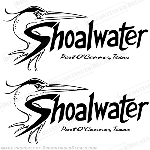 Shoalwater Boat Logo Decals (Set of 2)