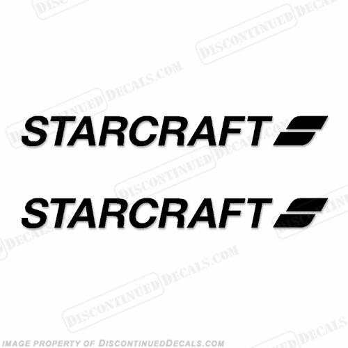 Starcraft Boat Logo Decals (Set of 2) - Style 3 - Any Color!