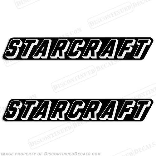 Starcraft Boat Logo Decals (Set of 2) - Style 5 - Any Color!